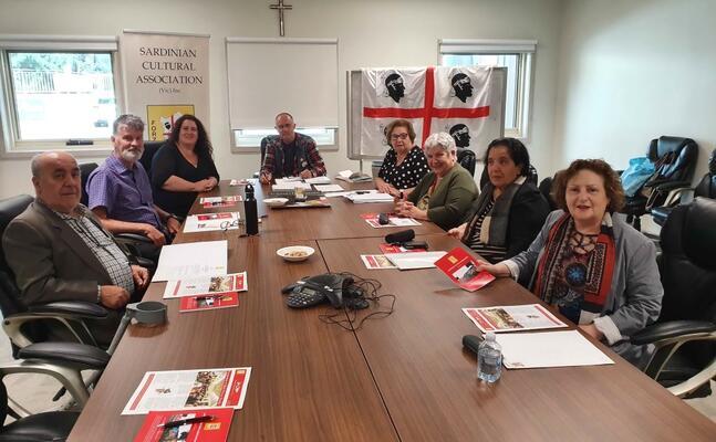 la riunione (foto sardinian cultural association)