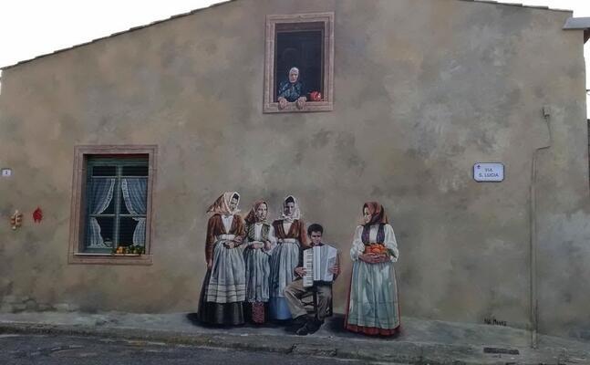 un murale nel centro di nurachi