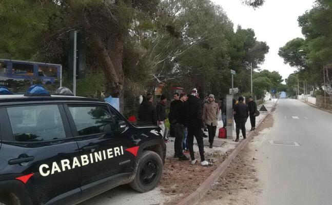 l intervento dei carabinieri (foto scano)