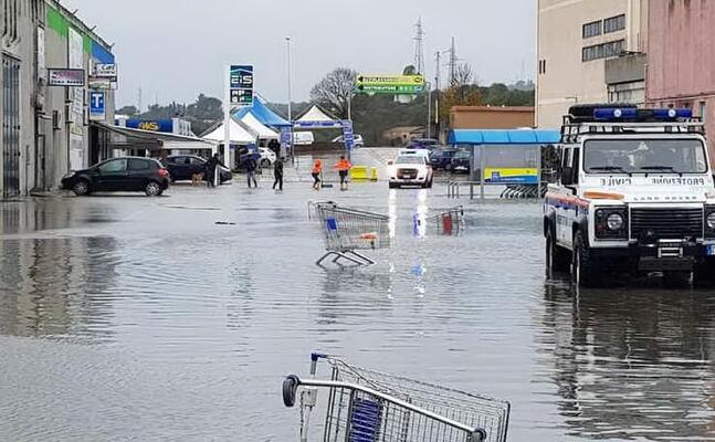 un alluvione a sassari (foto da facebook)