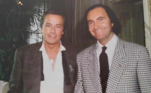 Gavino Sanna con Alain Delon (foto concessa)