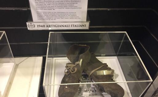 Scarpini usati ai Mondiali del '38 (foto lopi)