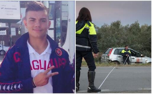 A sinistra Marco Cogoni. A destra il luogo dell'incidente (Foto Elisabetta Messina)