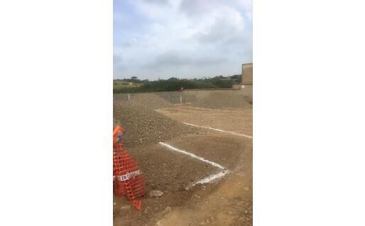 I lavori di ampliamento nella parte nuova del cimitero comunale (foto L'Unione Sarda - Farris)