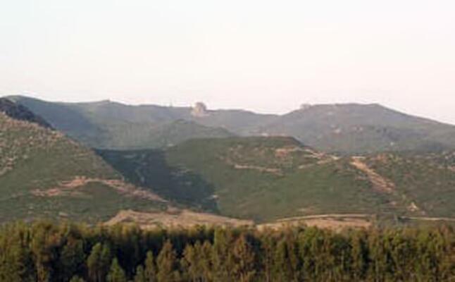 il monte arci nel territorio di marrubiu