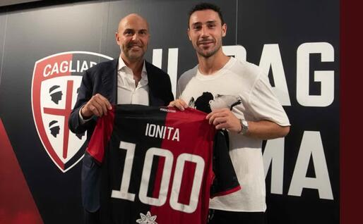 Ionita con Tommaso Giulini (Cagliari Twitter)