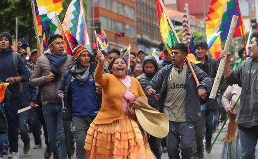 I supporters di Morales (Ansa)