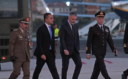 Oltre a Di Maio e Guerini anche il capo di Stato maggiore della Difesa Enzo Vecciarelli e il capo di Stato maggiore dell'esercito, generale Salvatore Farina (Ansa)