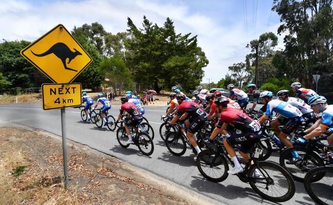 una tappa del tour down under 2020 in australia (ansa)