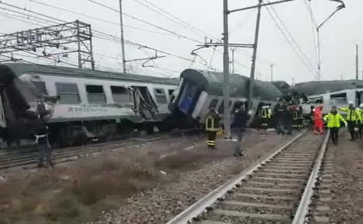 il luogo in cui il treno ucito dai binari