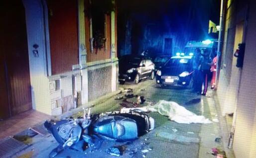 L'incidente a Settimo (foto carabinieri)
