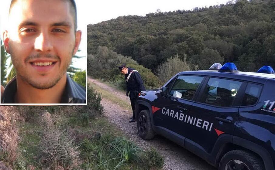 nel riquadro la vittima foto grande i carabinieri sul luogo della tragedia (foto a serreli)