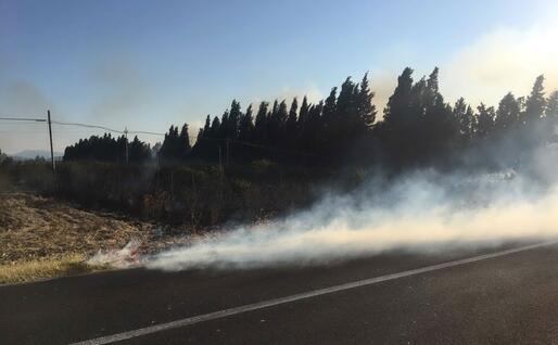 Il fuoco (foto L'Unione Sarda - Deidda)