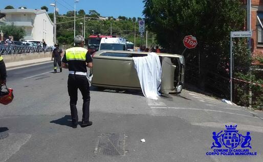 Il luogo dell'incidente (foto Polizia municipale)
