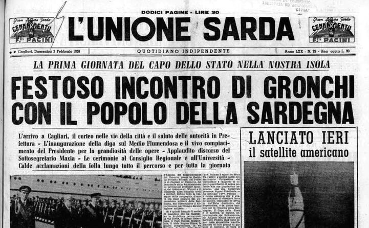 accaddeoggi 1 febbraio 1958 gronchi in visita a cagliari