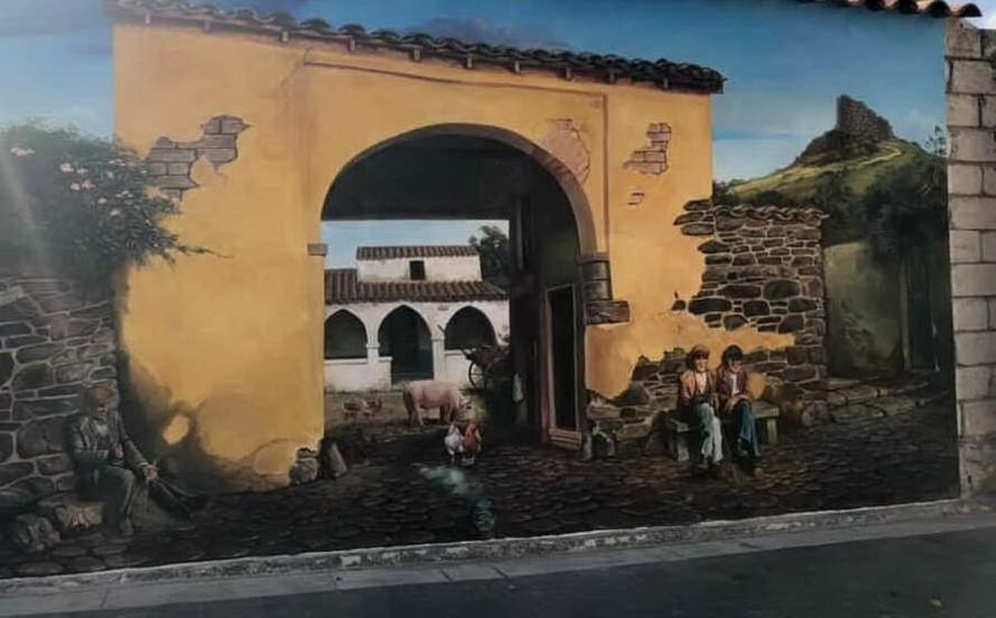 uno dei nuovi murales a ussaramanna (foto antonio pintori)