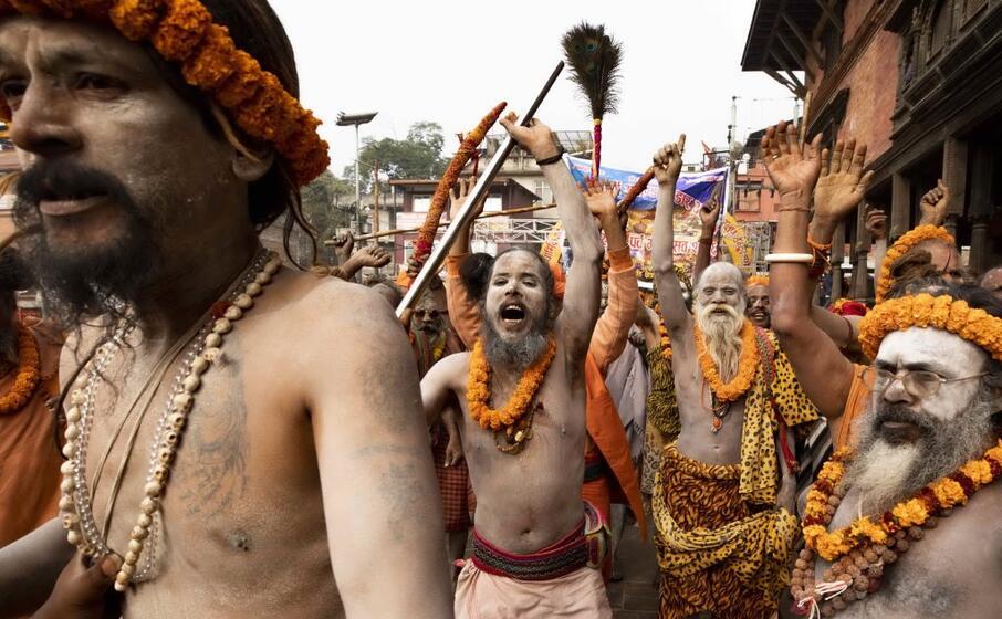 le celebrazioni si tengono al tempio pashupati a katmandu