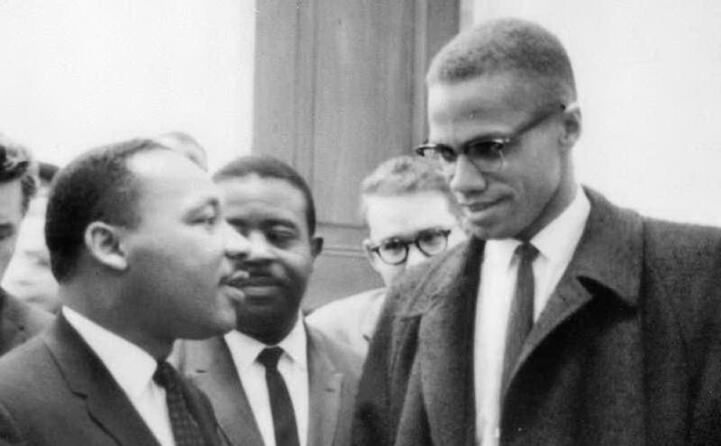 insieme a martin luther king (foto wikipedia)