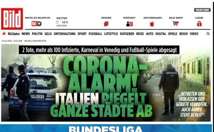 allarme corona l italia sigilla intere citt questa l apertura della tedesca bild