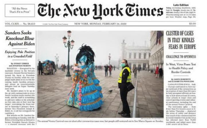 il new york time si concentra sull annullamento del carnevale di venezia