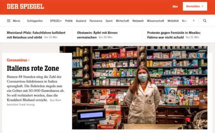 italia zona rossa cos il principale sito di informazione tedesco der spiegel