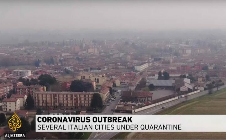 numerose citt italiane sono sotto quarantena cos al jazeera
