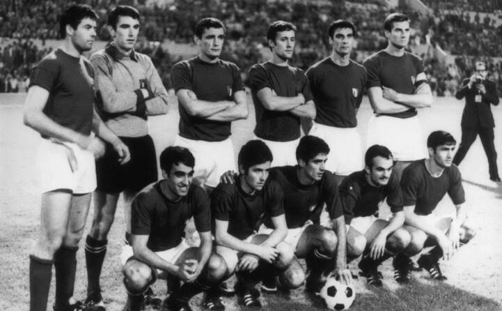 giovanissimo con la nazionale campione d europa 1968