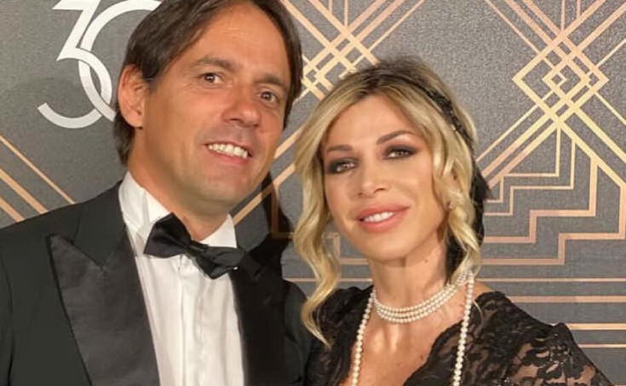 simone inzaghi e la moglie gaia lucariello (foto instagram)