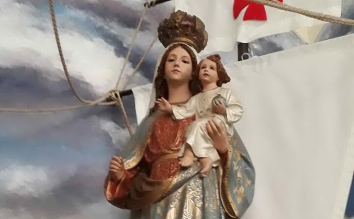 la madonna di bonaria nella basilica di buenos aires (di matilde scema di mogorella in missione in sudamerica)