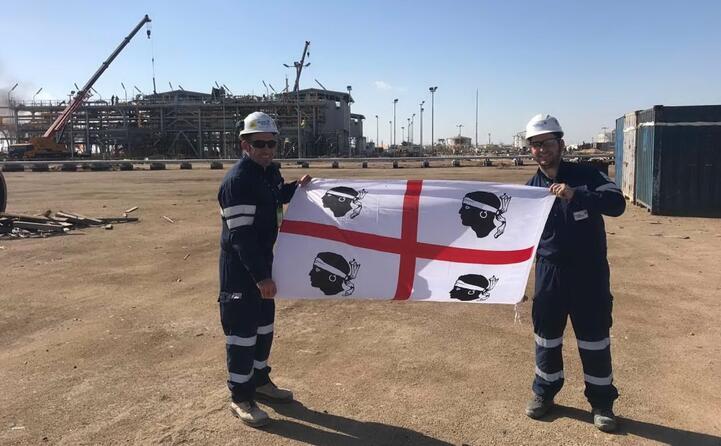 matteo e andrea da cagliari in iraq per la costruzione di una nuova stazione di compressione (north rumalia)