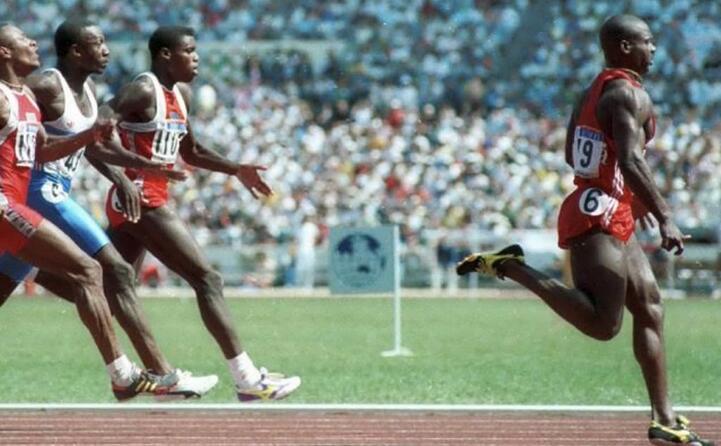 nel 1988 ai giochi olimpici di seul fu trovato positivo dopo aver vinto la finale dei 100 metri piani