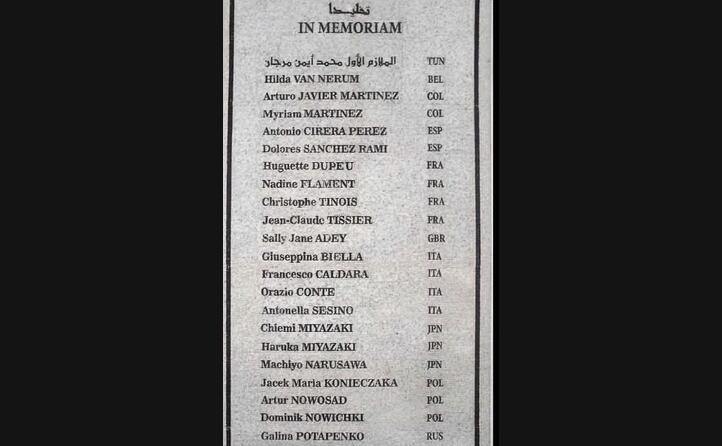 la targa posta in memoria delle vittime (foto wikipedia)
