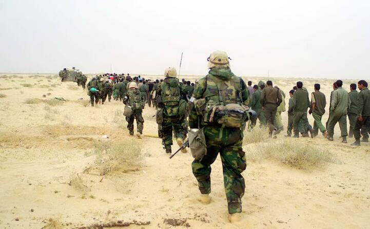 la cattura di alcuni iracheni (foto wikipedia)