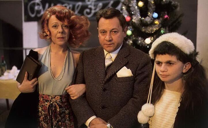 con la moglie pina e la figlia mariangela
