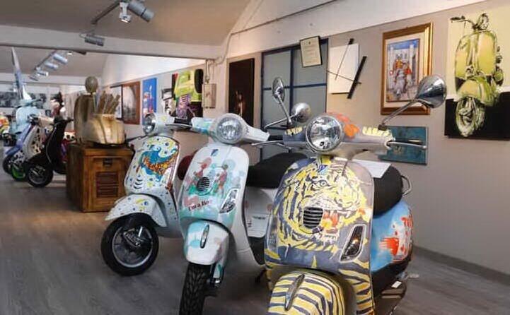 la mostra al museo della piaggio a pontedera in occasione dei 70 anni