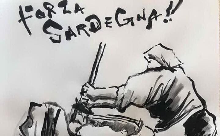 una delle immagini dell artista giapponese qui l omaggio a tonara