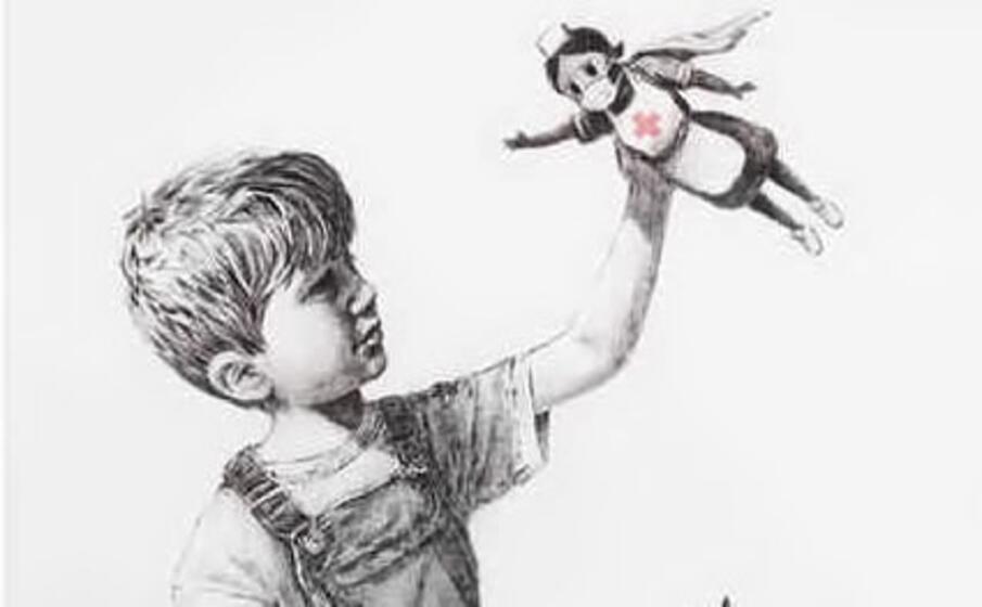 il nuovo murale di banksy (foto instagram)