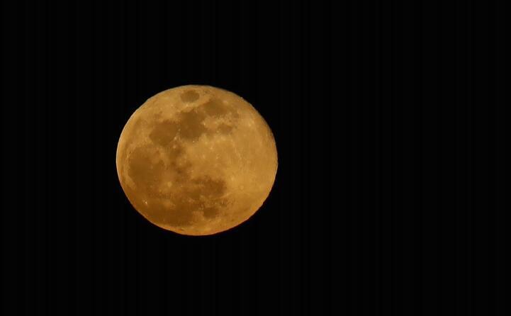 la superluna vista da gran canaria (ansa urquijo)