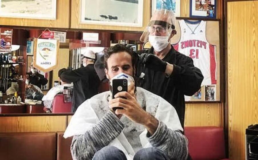 gigi datome dal barbiere (foto da instagram)