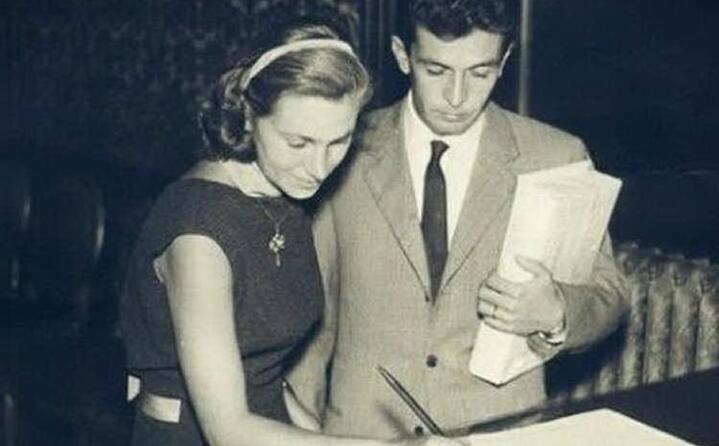 con la moglie letizia laurenti