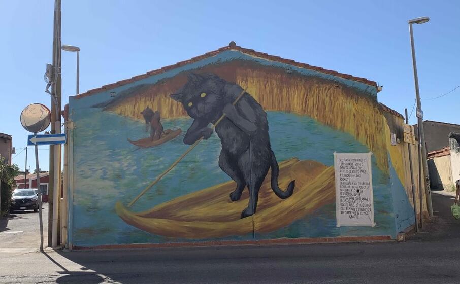 il murale (l unione sarda s pinna)