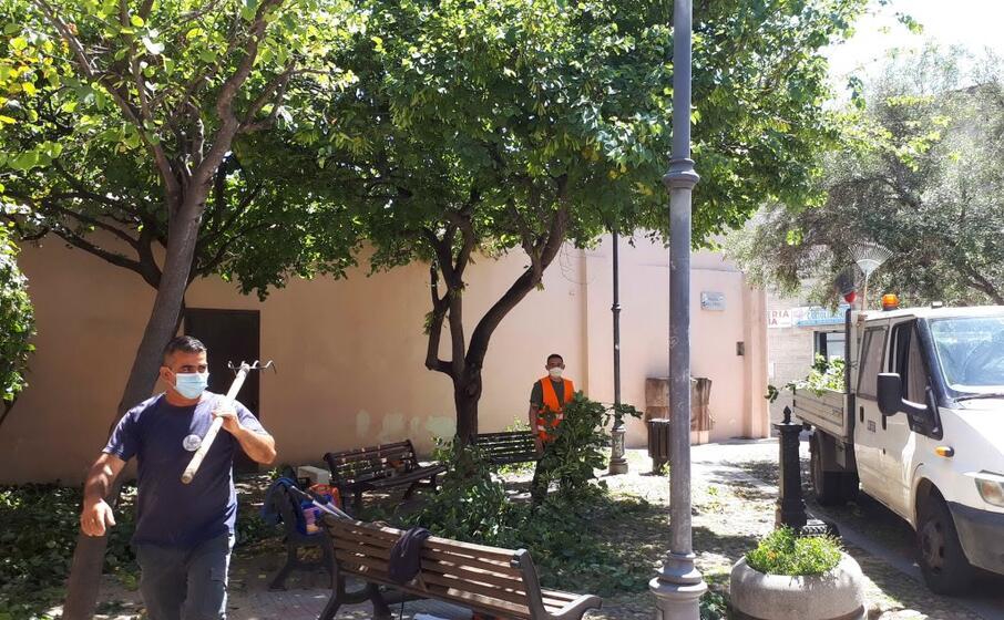 i lavori in piazza xxv aprile (l unione sarda)