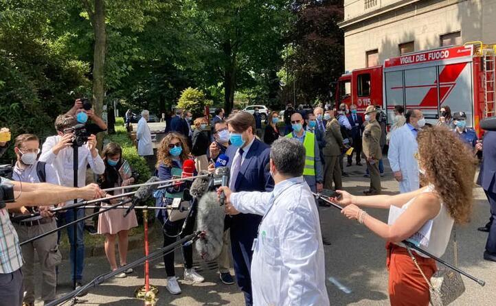 i giornalisti all inaugurazione (le foto sono di l unione sarda d errico e frigoli)