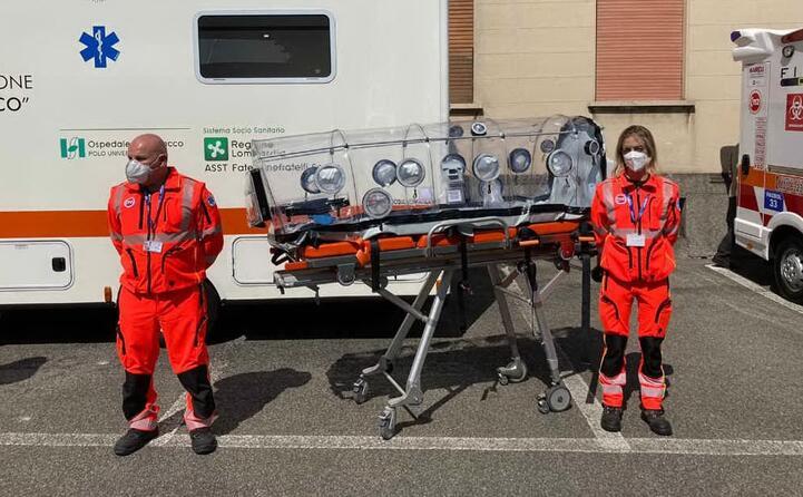 le speciali barelle per il trasporto dei malati