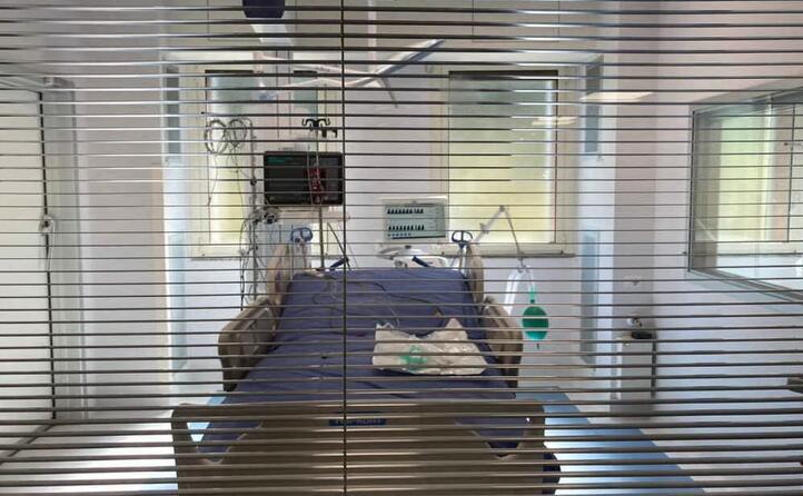 una delle stanze per la degenza dei pazienti
