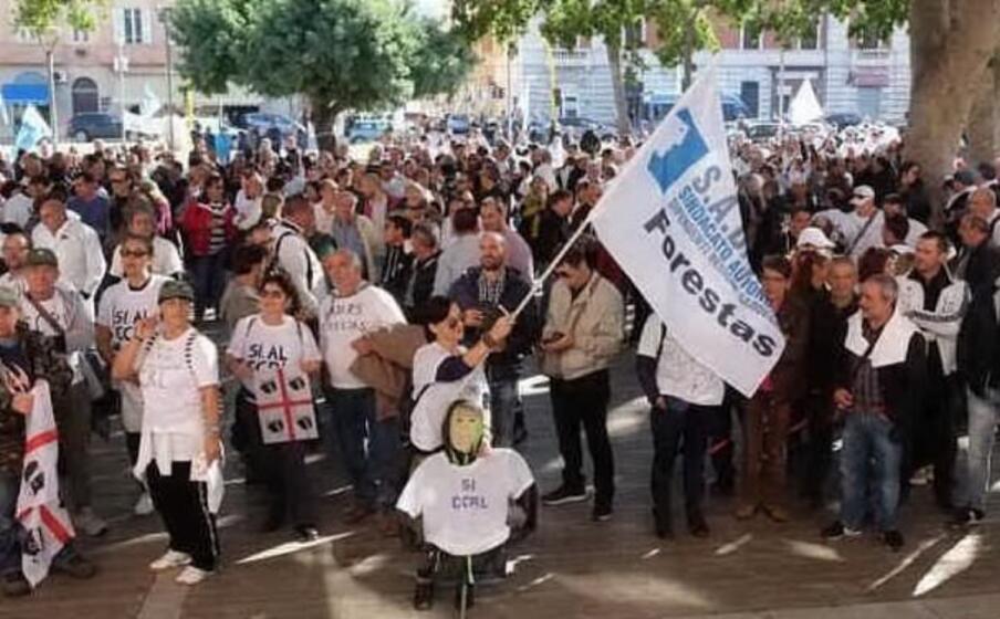 una manifestazione dello scorso anno (archivio l unione sarda)