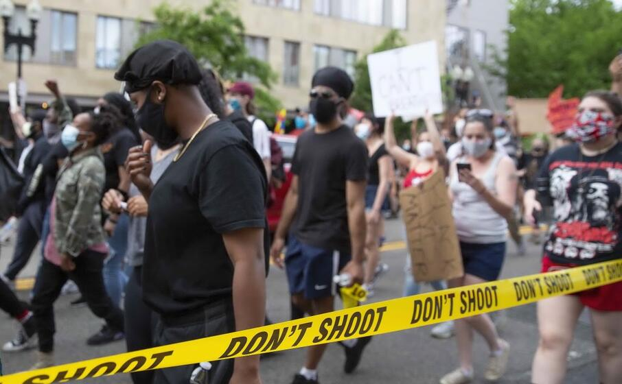 la manifestazione a boston (ansa gunther)
