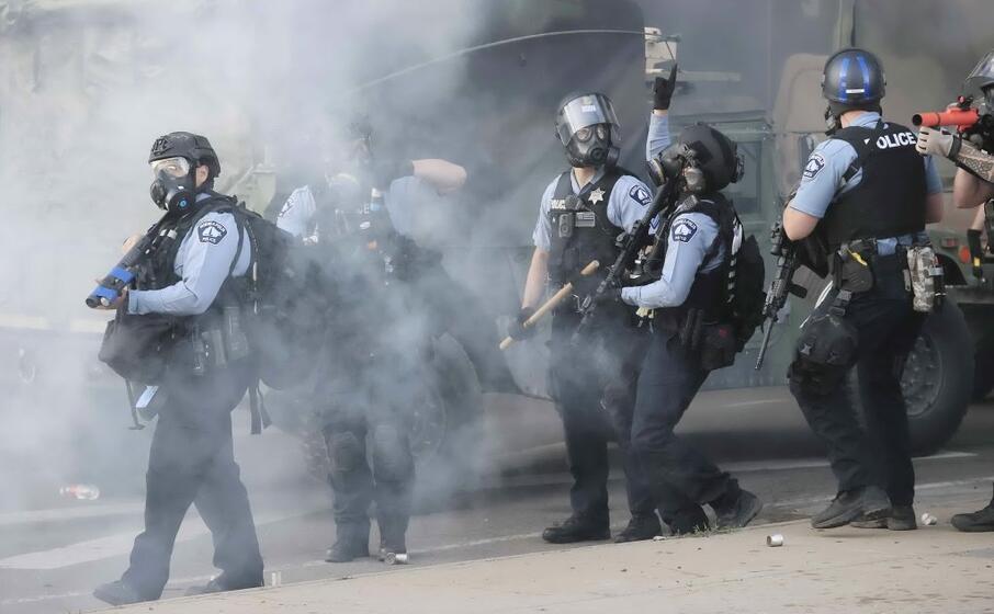 la polizia del minnesota (ansa maury)