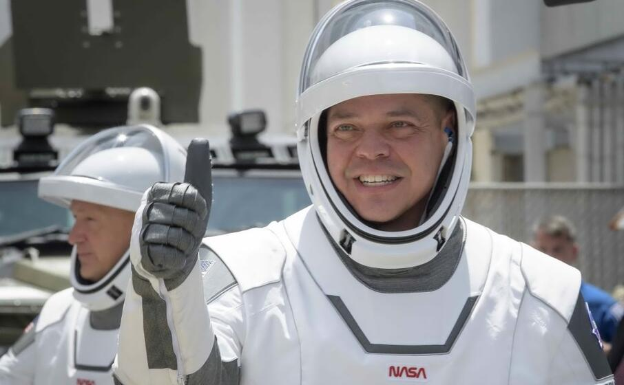 gli astronauti della crew dragon (ansa)