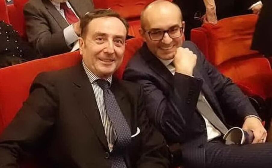 il sovrintendente nicola colabianchi con il sindaco paolo truzzu (ansa)